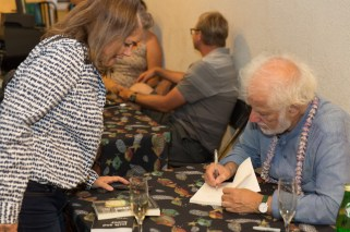 Michael Ondaatje signing books at The Green Room